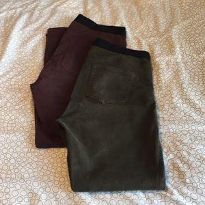 Gap colored denim leggings